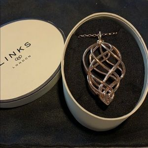 Links of London Woven Necklace in Rose Gold